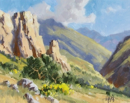 """Salt River Canyon 11"""" x 14"""" oil painting by Tom Haas"""