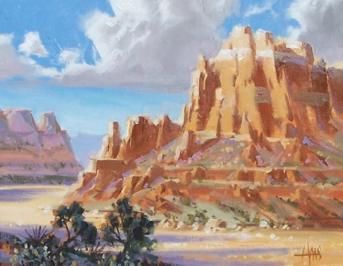 "Utah Canyon 11"" x 14"" oil painting by Tom Haas"