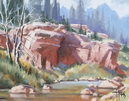 "Creekside - Arizona 11"" x 14"" oil painting by Tom Haas"