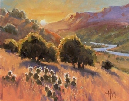 """Rio Grande - New Mexico 11"""" x 14"""" oil painting by Tom Haas"""