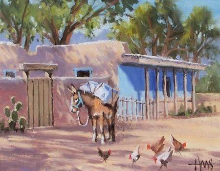 "Santa Fe Backstreet 11"" x 14"" oil painting by Tom Haas"