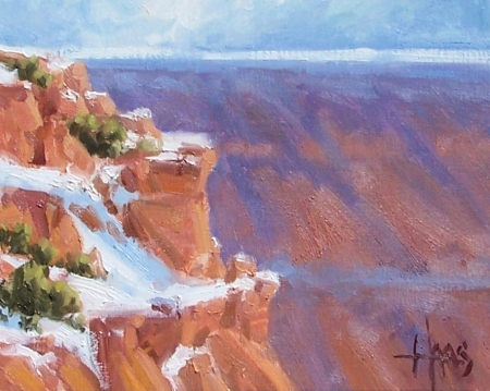 "Canyon Rim - Arizona 8"" x 10"" oil painting by Tom Haas"