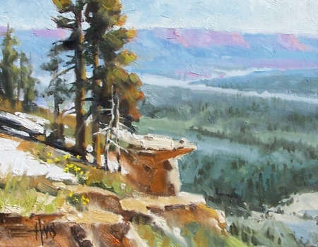 "Mogollon Rim - Tonto National Forest, Payson, Arizona 11"" x 14"" oil painting by Tom Haas"