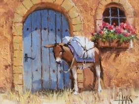 "Paquito's Deliveries - New Mexico 8"" x 10"" oil painting by Tom Haas"