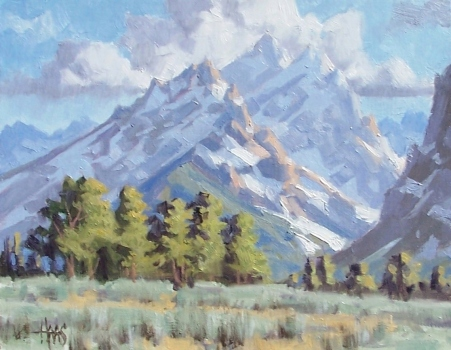 "Summer Meadow - Wyoming 11"" x 14"" oil painting by Tom Haas"