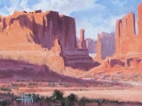 "Canyon Layers - Arches National Park, Utah 8"" x 10"" oil painting by Tom Haas"