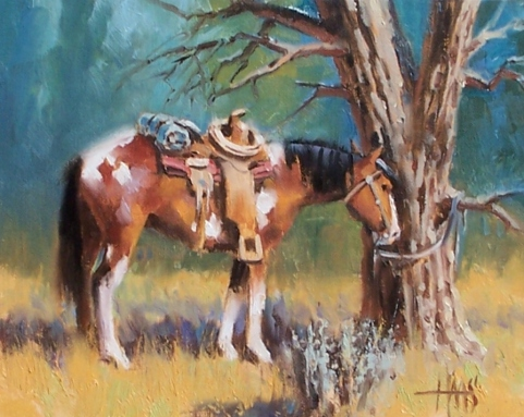 "Hassayampa - Wickenburg, Arizona 8"" x 10"" oil painting by Tom Haas"