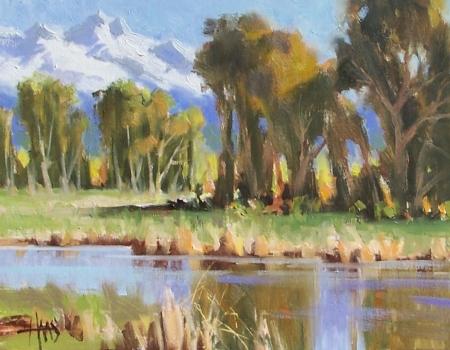"Slow Creek - near Steamboat Springs, Colorado 11"" x 14"" oil painting by Tom Haas"