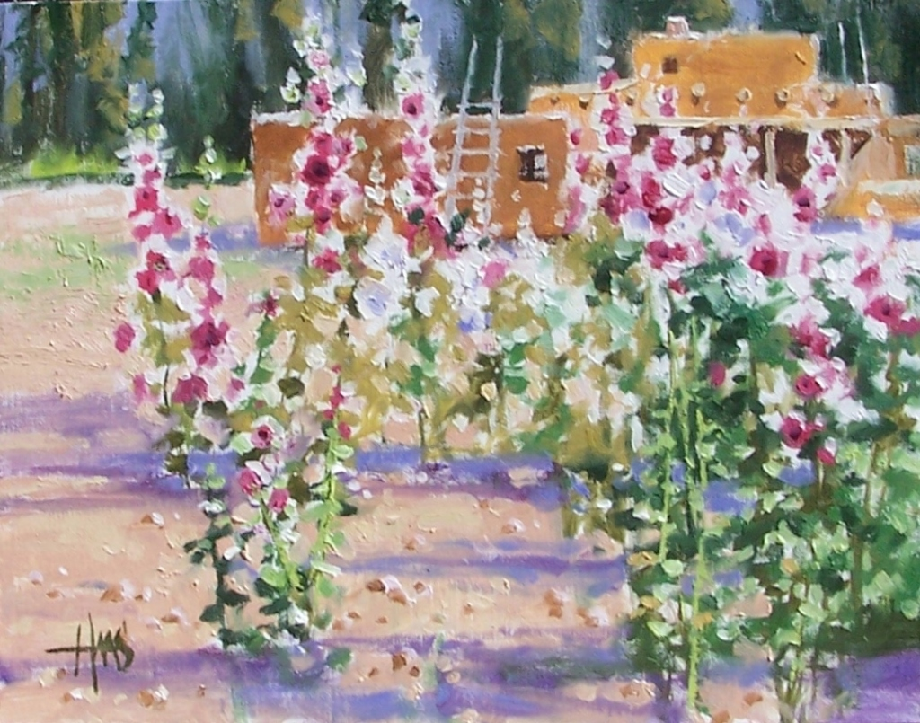 """Taos Garden - New Mexico 11"""" x 14"""" oil painting by Tom Haas"""