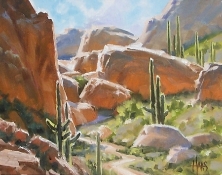 "The Pass - Arizona 11"" x 14"" oil painting by Tom Haas"