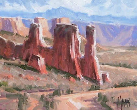 "Wild West - Canyonlands National Park, Utah 8"" x 10"" oil painting by Tom Haas"
