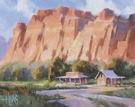 "Canyon Land - Utah 8"" x 10"" oil painting by Tom Haas"