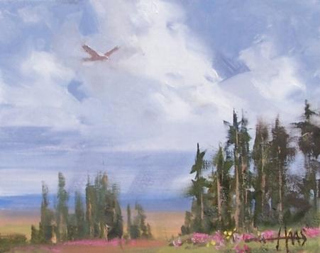 "Coming Rains - monsoon season northern Arizona 8"" x 10"" oil painting by Tom Haas"