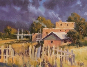 """Pinon Smoke - New Mexico 11"""" x 14"""" oil painting by Tom Haas"""