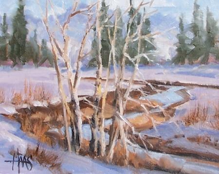 "Meandering - Colorado 8"" x 10"" oil painting by Tom Haas"