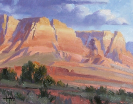 "Way Out West - Sedona 11"" x 14"" oil painting by Tom Haas"