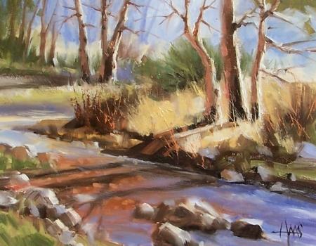 "Slow Creek 11"" x 14"" oil painting by Tom Haas"
