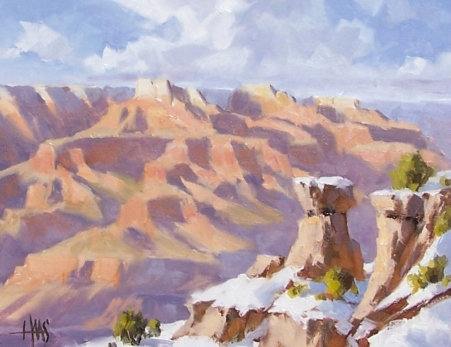 "Above the Kaibab Trail - Grand Canyon 11"" x 14"" oil painting by Tom Haas"