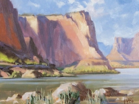 "Around the Bend - Grand Canyon 11"" x 14"" oil painting by Tom Haas"