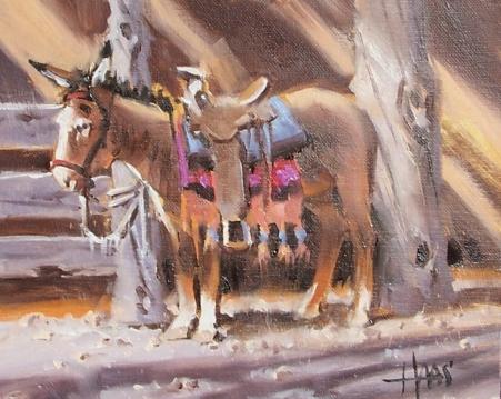 """Rosita 8"""" x 10"""" oil painting by Tom Haas"""