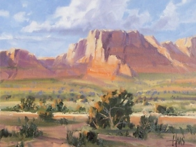 "Vermilion Cliffs - Arizona Utah border 11"" x 14"" oil painting by Tom Haas"