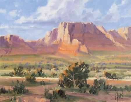 "Vermilion Cliffs - Arizona Utah border 11"" x 14"" oil painting by Tom Haas"