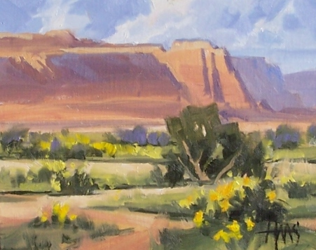 "Wide Open Spaces - Marble Canyon 8"" x 10"" oil painting by Tom Haas"
