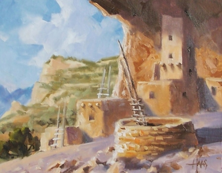 """Ancient Village - Colorado 11"""" x 14"""" oil painting by Tom Haas"""