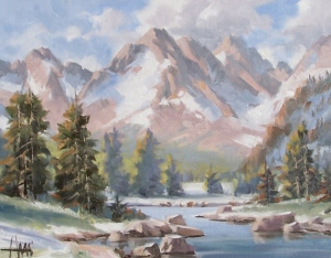 """River Trail - Wyoming 11"""" x 14"""" oil painting by Tom Haas"""