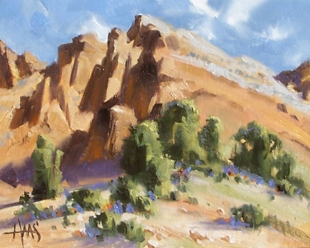 "Craggy Pass - New Mexico 8"" x 10"" oil paintings by Tom Haas"