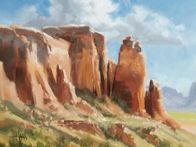 "Ghost Ranch Canyon - New Mexico 12"" x 16"" oil painting by Tom Haas"