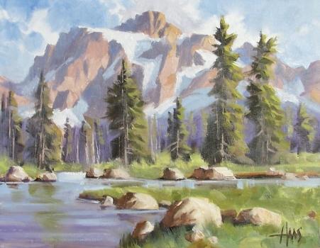 "Spring Runoff - Wyoming 11"" x 14"" oil painting by Tom Haas"