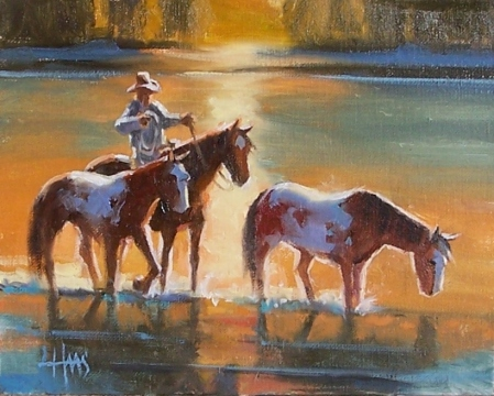 "Fresh Mounts 8"" x 10"" oil painting by Tom Haas"