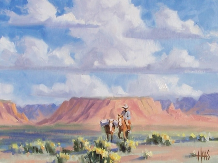"Heading South - Canyonlands Utah 12"" x 16"" oil paintings by Tom Haas"