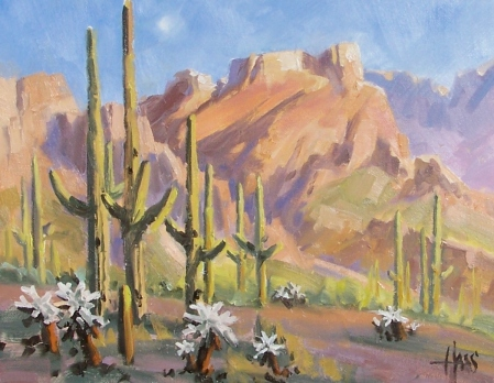 "Rugged Trail - Arizona 11"" x 14"" oil painting by Tom Haas"