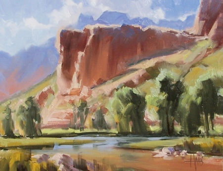 "Canyon Colors - Sedona 11"" x 14"" oil painting by Tom Haas"