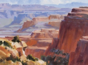 """South Rim - Grand Canyon 12"""" x 16"""" oil painting by Tom Haas"""