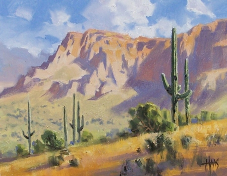 "Peralta Trail - Arizona 11"" x 14"" oil painting by Tom Haas"
