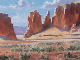 "Sandstone Portal - Monument Valley, Arizona 12"" x 16"" oil painting by Tom Haas"