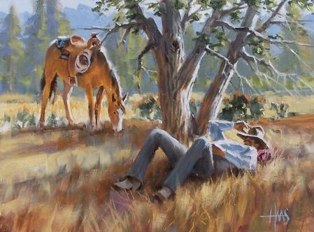 """Siesta 12"""" x 16"""" oil painting by Tom Haas"""