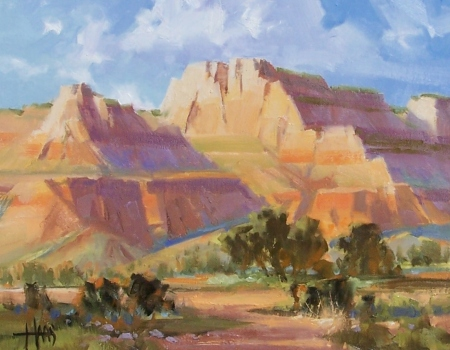 "Terra Rosa - Sedona 11"" x 14"" oil painting by Tom Haas"