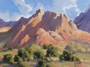"Western Solitude - Arizona 12"" x 16"" oil painting by Tom Haas"