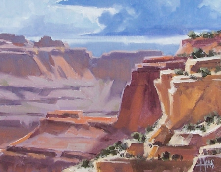 "Clearing Skies - Grand Canyon 11"" x 14"" oil painting by Tom Haas"