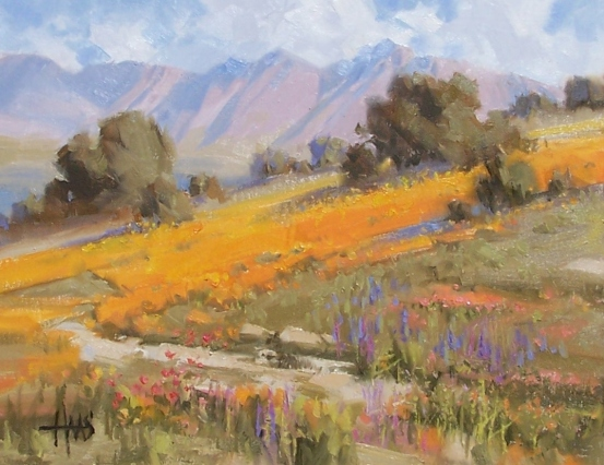"Desert Gilding - Arizona 11"" x 14"" oil painting by Tom Haas"