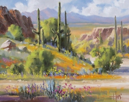 """Just Add Water - Arizona 11"""" x 14"""" oil painting by Tom Haas"""