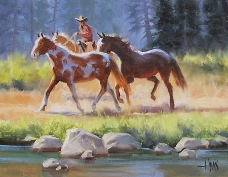 "Ranch Stock 11"" x 14"" oil painting by Tom Haas"