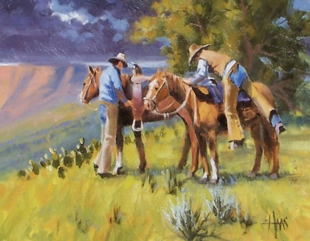 "Rim Country Riders 11"" x 14"" oil painting by Tom Haas"