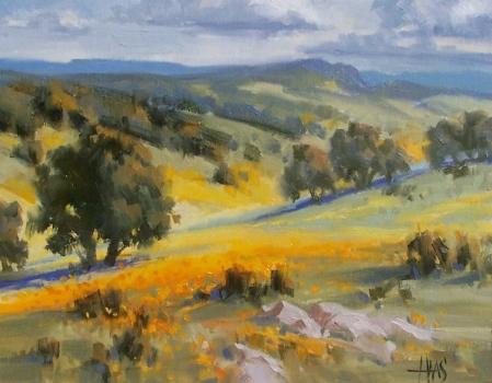 "Sonoita Foothills - Arizona 11"" x 14"" oil painting by Tom Haas"