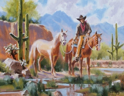 """From the Canyon - Arizona 11"""" x 14"""" oil painting by Tom Haas"""