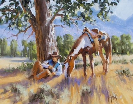 "Grassland Retreat - Arizona 11"" x 14"" oil painting by Tom Haas"